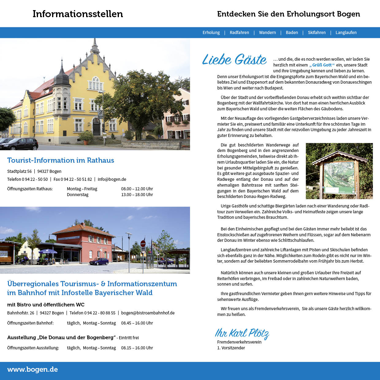 Prospekt Gastgeberverzeichnis Bogen 1. Umschlagseite + 1. Prospektseite