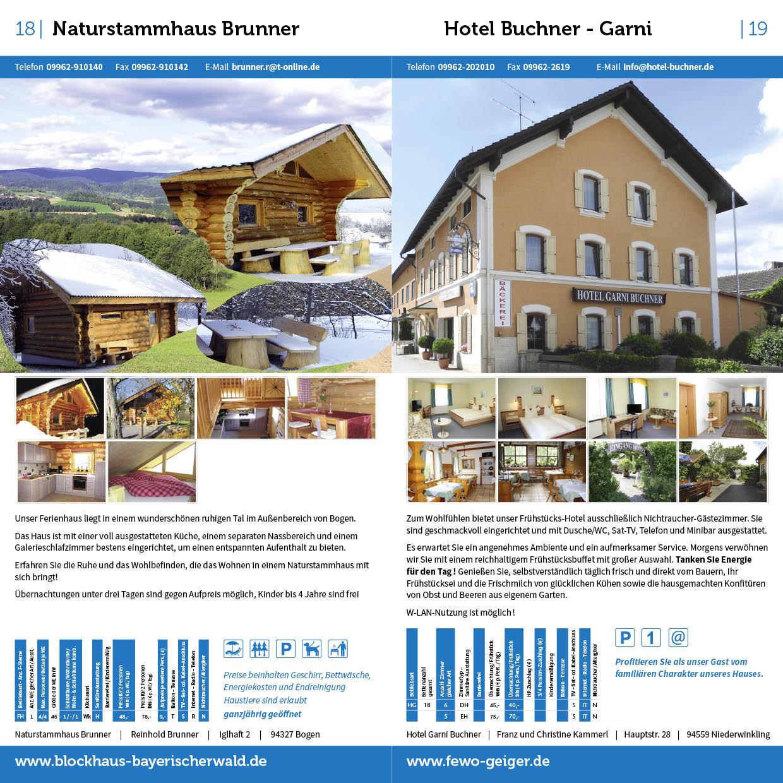 Prospekt Gastgeberverzeichnis Bogen Innenseiten mit Vermieter