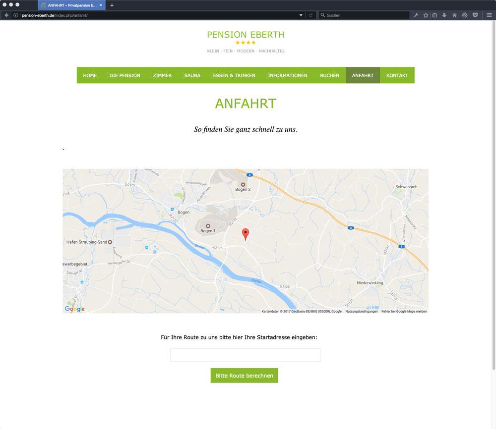 Eberth Internetseite Anfahrt