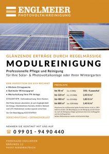 Englmeier Photovoltaikreinigung Flyer Preise