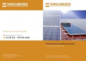 Englmeier Photovoltaikreinigung Image-Flyer Titel- und Rückseite
