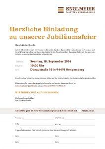 Englmeier Paletten Flyer Einladung zum Tag der offenen Tür