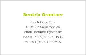 Grantner Beatrix Visitenkarte Rückseite