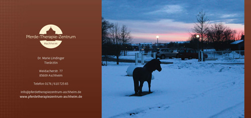 Prospekt Pferdetherapiezentrum Aschheim Rückseite