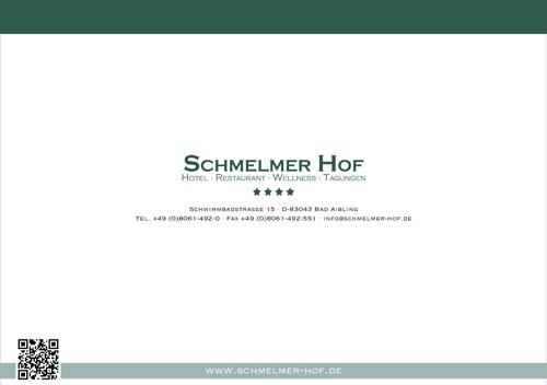 Schmelmer Hof Prospekt Arrangements Rückseite