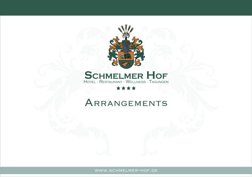 Schmelmer Hof Prospekt Arrangements Titelseite