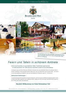 Schmelmer Hof Anzeige Feiern und Tafeln