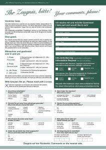 Schmelmer Hof Bewertungsbogen