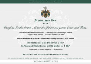 Schmelmer Hof Flyer Silvester