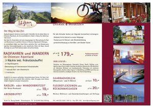 St. Georg Angebotsflyer Radfahren und Wandern