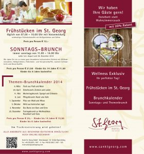 St. Georg Angebotsflyer