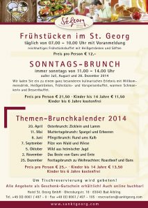 St. Georg Brunch Flyer