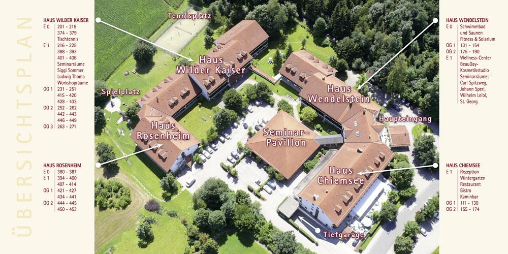 St Georg Prospekt Hotel ABC Innenseiten mit Übersichtsplan