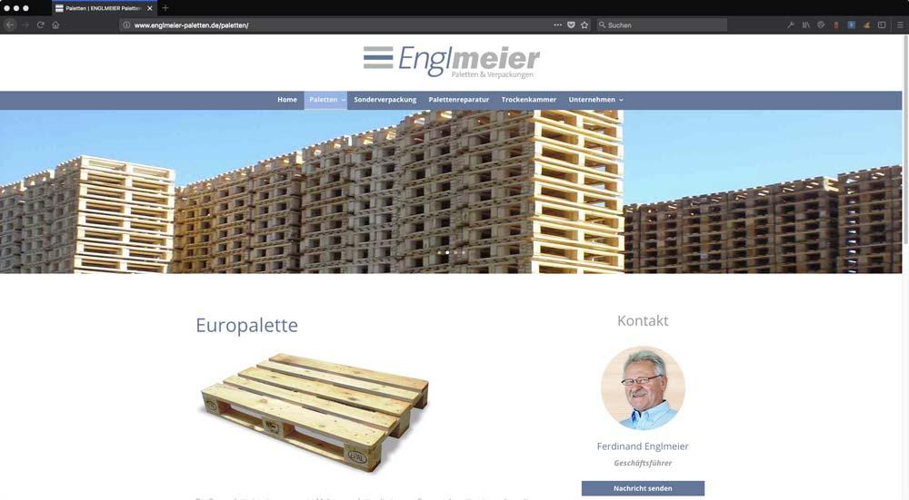 Englmeier Website Palettenseiten
