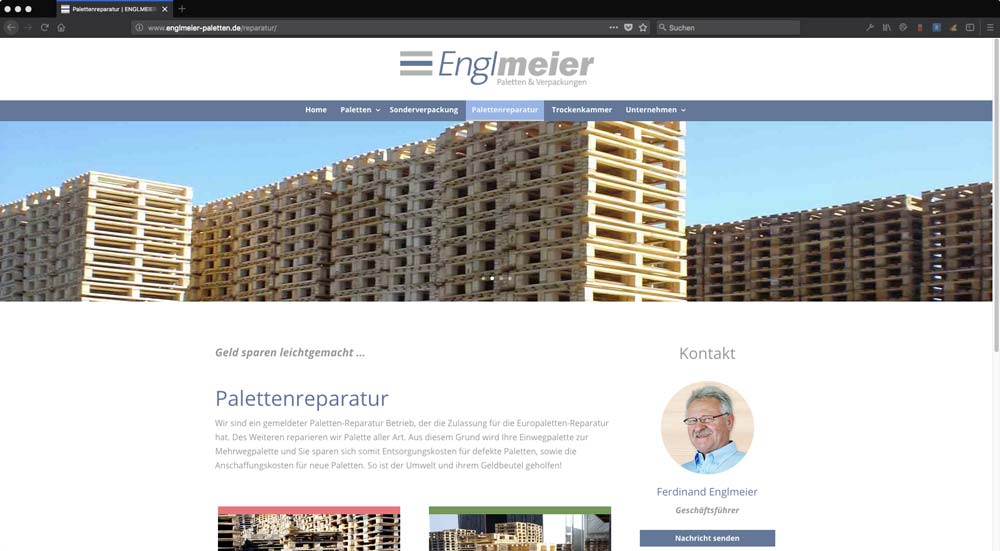 Englmeier Website Palettenreparatur