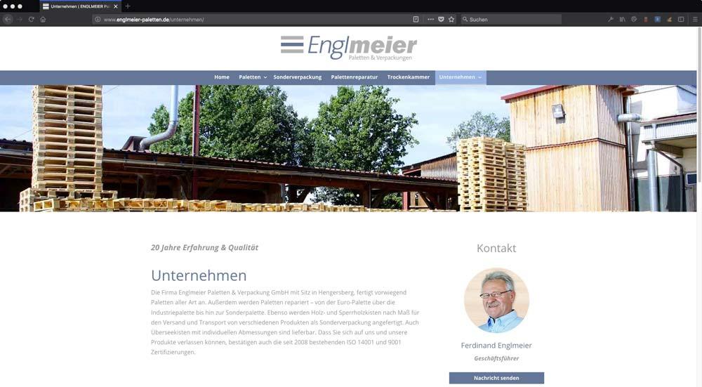 Englmeier Website Unternehmen